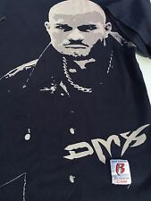 DMX VINTAGE RARE RUFF RYDERS CLASSIC TEE T-SHIRT NAVY BLUE EARRING LARGE
