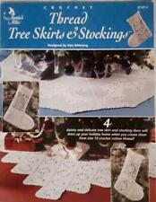 Annie's Attic CROCHET THREAD TREE SKIRTS & STOCKINGS Pattern Booklet #872212