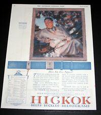 1925 OLD MAGAZINE PRINT AD, HICKOK BELTS & BUCKLES & BELTOGRAMS, EVER NOTICED?