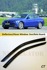 For BMW 3 Coupe E92 2006-2013 , Windows Visors Deflector Sun Rain Guard Vent