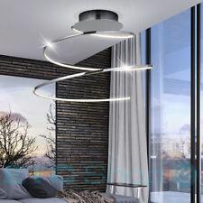 22 Watt Design LED Decken Leuchte Chrom Spirale Wohn Ess Schlaf Zimmer Lampe