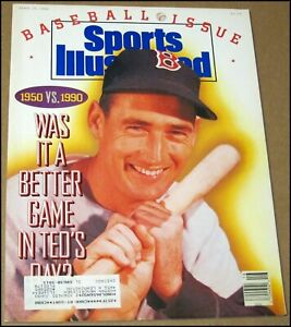 4/16/1990 Sports Illustrated Ted Williams Boston Red Sox Nick Faldo The Masters
