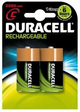 Duracell HR14 Rechargeable 2200mAh C Batteries - Twin Pack New Uk