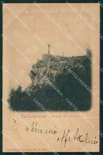 Firenze Reggello Vallombrosa PIEGHINA cartolina XB1632