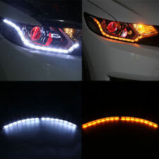 Switchback Headlamp LED Daytime Running Light Strips w/ Waterfall Turnsignalers
