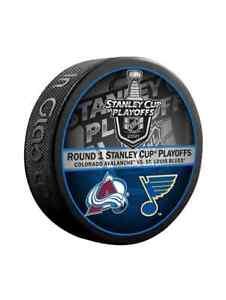 2021 Stanley Cup 1st Rd Colorado Avalanche vs St. Louis Blues Souvenir Puck