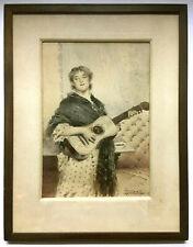 ANTIQUE 19th Century ~ LUIGI POLLI ~ Watercolor Painting ITALIAN GENRE
