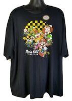 Mens Black T-Shirt Mario Kart Racing Team Officially Licensed Nintendo - 5XL