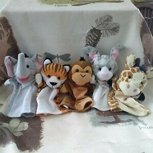 Melissa and Doug Plush Hand Puppet Sets Zoo Animals Lot of 5