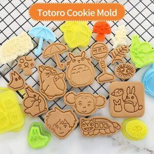 Mold Baking Elves Totoro Cartoon Biscuit Cookies 3D Cutter Baking Tools Animals