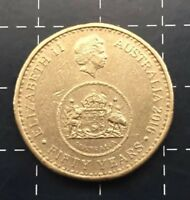 2016 AUSTRALIAN $1 ONE DOLLAR COIN - 50 YEARS OF DECIMAL CHANGEOVER - LOW MINT