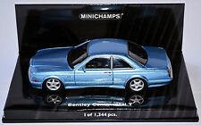 Bentley Continental T 1991-2002 bleu bleu métallisé 1:43 Minichamps