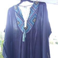 223d1d332b Love Stitch Navy embroidered front, v-neck dress S/M M/L Available