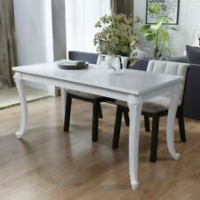 vidaXL Dining Table High Gloss White Dinner Dining Room Kitchen Home Furniture