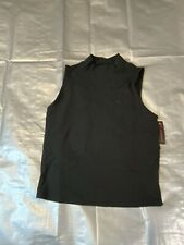 Girls Ribbed Mock Sleeveless Turtleneck Black Top Size Xl 65