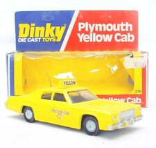 Dinky Toys 1:43 PLYMOUTH GRAN FURY YELLOW CAB USA Taxi Model Car #278 MIB`78!