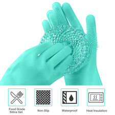 Magic Silicone Cleaning Brush Gloves for Cleaning Kitchen Dishes,Car Washing