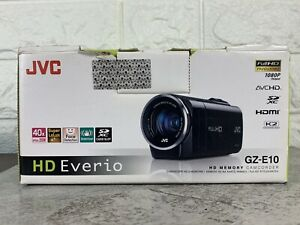 JVC HD Everio GZ-E10 HD Memory SD Card Camcorder Black Full HD 1080P Excellent