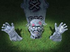 Halloween Zombie césped Estaca cabeza y brazos interruptor de tierra Cementerio Decoración