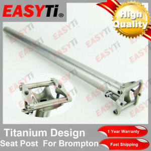 Easy Ti High Quality Titanium Bicycle Seatpost 31.8mm-for Brompton -Ultra Light