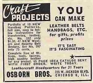 "Osborn Bros Chicago Illinois Vintage  2"" to 3"" Magazine Print Ad 0069"