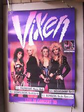 VIXEN,LIVE IN CONCERT ´89 ,  poster 60x80 cm vg+/ gerollt