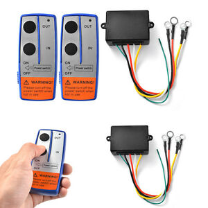 100ft 12V Wireless Winch Remote Control Switch Handset for Car SUV ATV Universal