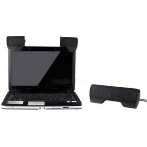Mini Portable USB Stereo Speaker for Notebook Laptop Computer PC with Clip