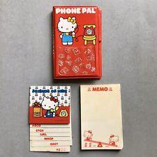 VTG 1980s HELLO KITTY Phone Pal Case with Memo Block 1976 SANRIO Telephone Book