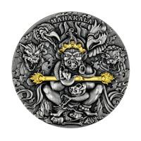 2020 Cameroon Tibetan Diety Mahakala 2 oz Silver Antiqued Coin - 500 Made
