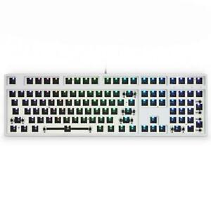 GK108 GK 108 HOT SWAPPABLE 100% CUSTOM MECHANICAL KEYBOARD KIT SUPPORT RGB