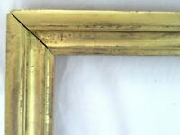 "SMALL Antique Fits 6 X 9"" Gold Gilt Picture Frame Wood Gesso Fine Art Country"