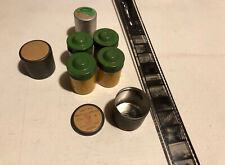 "Lot of Vintage Kodak 35mm Metal Film Canisters Cartridges & ""Living with Light"""