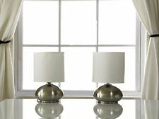 Bedside Touch Lamps White Table Lamps For Bedroom Nightstands Light Set Of 2 NEW