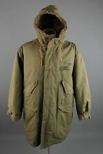 Vtg Men's 1943 US Army Parka WWII Pile Lined Hooded Coat sz Large #2049 WW2