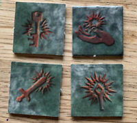 Dungeons And Dragons Board Game Spares Dead Character Markers X4 Counters