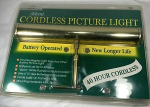 House of Troy Brass Cordless Advent Picture Light Battery 14 inch ABF14-61 New
