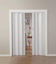 Double Sliding Folding Door PVC Internal Room Panel Divider Utility Indoor Door