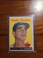 1958 Topps Sandy Koufax # 187 HOF LA Dodgers, EX, Sharp!!