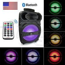 Portable PA Karaoke Bluetooth Speaker w/ 8