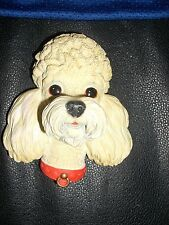 bossons chalkware white poodle