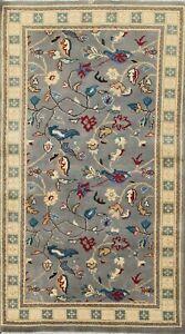 Vegetable Dye Peshawar-Chobi Floral Oriental Area Rug Handmade Wool Carpet 3x5