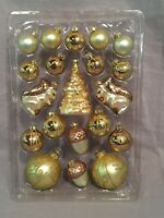 Pottery Barn Assorted Glass Ornaments Set/20