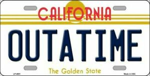 'OUT OF TIME' - US LICENSE PLATE - Back to the Future - Replica Movie Prop