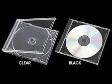10.4mm Standard CD Jewel Case Black/Clear Tray Hold 1 to 4 Discs Wholesale Lot