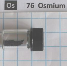 0.20 gram 99.95% Osmium metal sponge in glass vial - element 76 sample