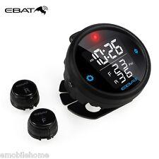EBAT ET-910AE Wireless TPMS Motorcycle Tire Pressure Monitor 2-sensor Waterproof