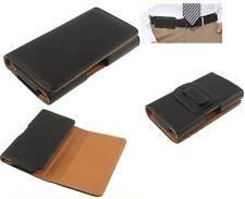 para NOKIA 230 Funda Clip Horizontal Cinturon Piel Sintetica Premium