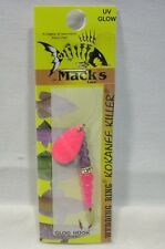 Macks Sz8 Wedding Ring Kokanee Killer Hot Pink FL Purple Fishing Lure Glo Hook
