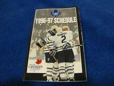 St. John's Maple Leafs 1996/97 AHL Minor Hockey Pocket Schedule - Molson